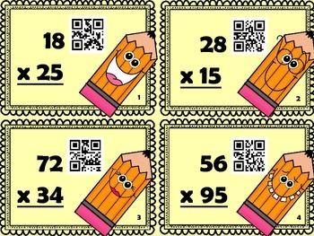 Cartes à tâches : La multiplication (avec code QR)