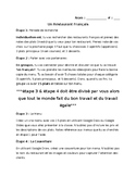 FRENCH NO PREP -authentic speaking, writing restaurant project - create a menu