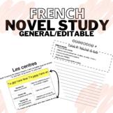 FRENCH NOVEL STUDY GENERAL | ÉTUDE ROMAN