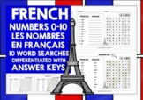 FRENCH NUMBERS 0-10 WORD SEARCHES