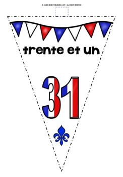 FRENCH NUMBERS 0-31 BANNERS/BUNTING