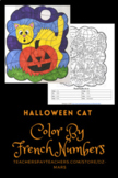 FRENCH NUMBERS - color-by-French-numbers - HALLOWEEN CAT