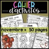 FRENCH November Worksheets/ Cahier d'activités de novembre