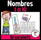 FRENCH Number 1-10 Bracelets / Bracelets des nombres 1-10