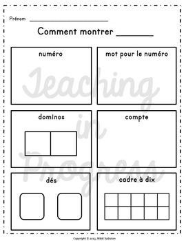 FRENCH Number Sense - Subitizing and Multiple Representations