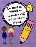FRENCH Number Sense Unit Plan - Grade 2