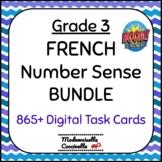 FRENCH Number Sense (to 1000) BOOM card BUNDLE - GRADE 3