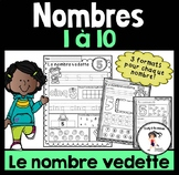 FRENCH Number of the Day 1-10 / Le nombre du jour 1-10