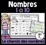 FRENCH Numbers 1-10 Pathway / Le chemin des nombres 1-10
