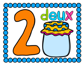 FRENCH Numbers 1-20 Dough Mats