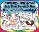 FRENCH Numbers 1-20 Interactive Smartboard Activity