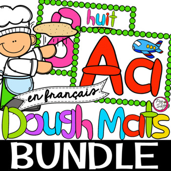 FRENCH Numbers & Alphabet Dough Mats BUNDLE