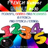 FRENCH Numbers Posters, Activities, Games BUNDLE : Les nombres / les chiffres