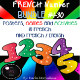 FRENCH Numbers Posters, Activities, Games BUNDLE : Les nom