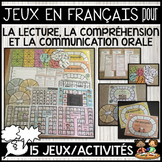 FRENCH ORAL COMMUNICATION, READING & COMPREHENSION GAMES (JEU DE COMMUNICATION)