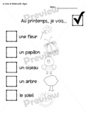 FRENCH-Outdoor Spring Learning (le printemps) Scavenger Hunt