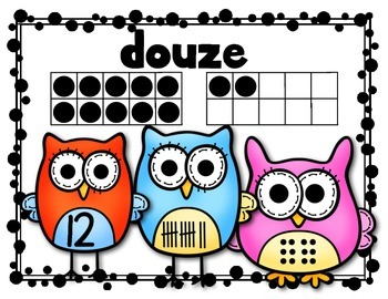 "FRENCH: ""Owl"" About Numbers {Math Posters 11-20} Kindergarten Common Core"