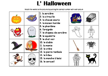 FRENCH - PICTURE MATCH - L' Halloween