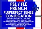 FRENCH PLUPERFECT TENSE CONJUGATION DRILLS WORKBOOKS