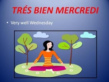 French Poem:   Les Jours de la Semaine