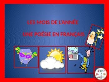 FRENCH POEM: LES MOIS DE L'ANNÉE