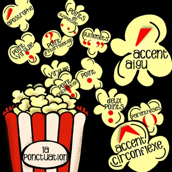 FRENCH 'POPCORN DE PONCTUATION' POSTERS