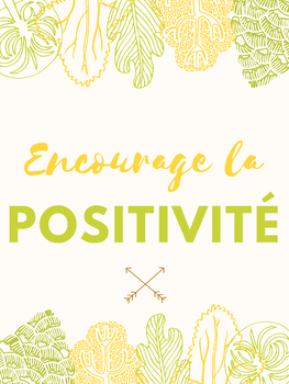 FRENCH-POSITIVE CLASS POSTERS, Growth Mindset