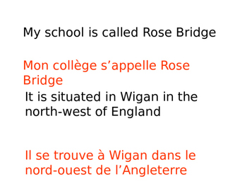 FRENCH - PPT - GCSE WRITING SKILLS REVISION -School and Holidays