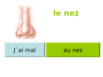 FRENCH - PPT - J'ai mal ..... (illness and injury)