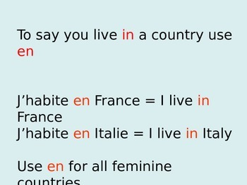 FRENCH - PPT - Où habites-tu?