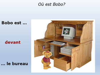 FRENCH PREPOSITIONS OF POSITION: mini lesson