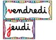 FRENCH PRINTABLES  Labels & Etiquettes / dates, calendrier Immersion