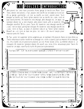 FRENCH PULLEYS AND GEARS UNIT - GRADE 4 SCIENCE (POULIES ET ENGRENAGES)