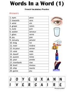 FRENCH - PUZZLE - Words in a Word (1)