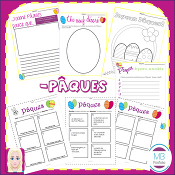 FRENCH- Pâques BUNDLE- Vocabulary, NO PREP Games & Worksheet Activities / Easter