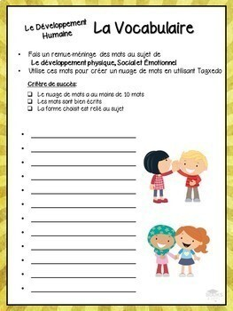 FRENCH - Part 1 of 3: Grade 3 - Human Development & Sexual Health