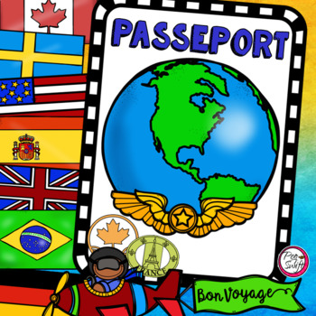 FRENCH Passport Template • Mon passeport by Peg Swift French Immersion