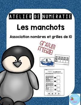 FRENCH Penguin math center FREE/ Atelier de numératie des manchots {Gratuit}