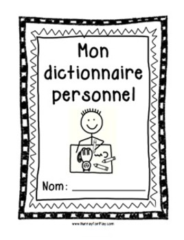 Personal Picture Dictionary (French)