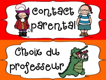 FRENCH - Peter Pan Themed Behavior Chart