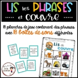 FRENCH Phonics Reading Game/Jeu- Phrases avec boîtes de sons