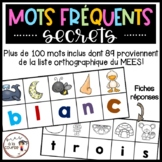FRENCH Phonics Secret Sight Words/ Mots fréquents secrets