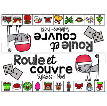FRENCH Phonological Awareness Literacy Roll & Cover BUNDLE (roule et couvre)