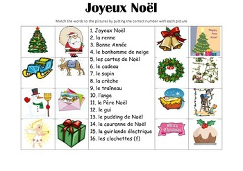 FRENCH - Picture Match - Joyeux Noël (Merry Christmas)