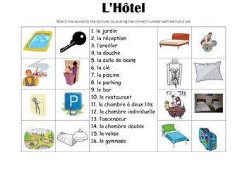 FRENCH - Picture Match - L'Hôtel (Hotel)