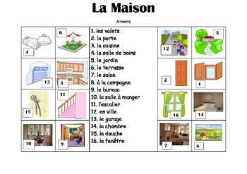 FRENCH - Picture Match - La Maison (house)