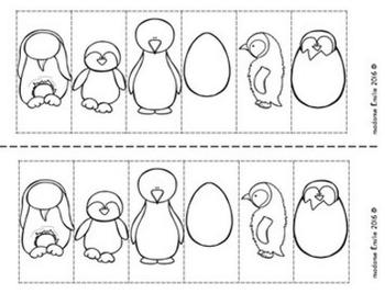 FRENCH {Penguin life cycle}/ Le cycle de vie du manchot