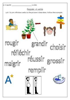 FRENCH - Planting a reg. -ir verb