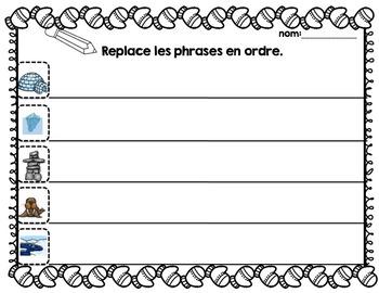 FRENCH {Polar Habitat} scrambled sentences/Phrases en désordre Monde Polaire