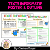 Texte informatif (Informational Writing) - FRENCH Poster and Outlines